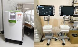 酸素濃縮器とモニター01